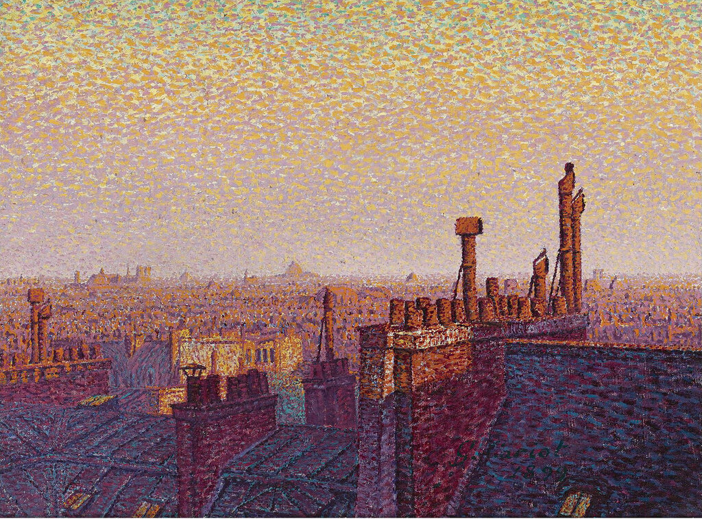 Gustave Cariot - The Roofs of Paris, Sunset, 1899.jpeg