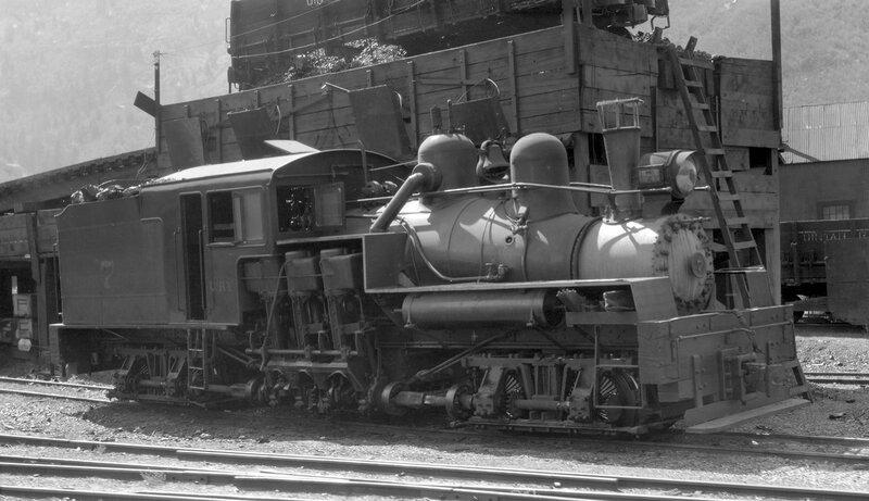 Uintah narrow gauge locomotive, engine number 7, engine type SHAY, Atchee, Colo., Sept 3, 1934