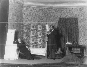 """Сцена из спектакля """"Шакалы"""" по пьесе Чирикова."""