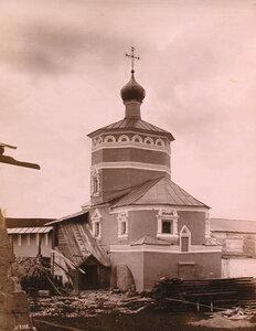 Вид на церковь Иоанна Богослова Успенского монастыря (построена в 1594 г.). Тверская губ.