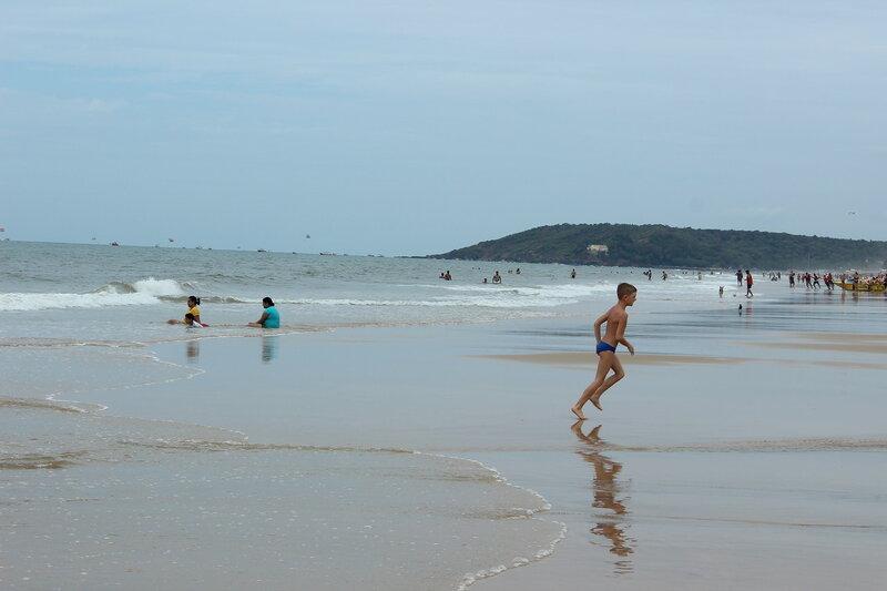 Гоа, Индия,  пляж Кандолима