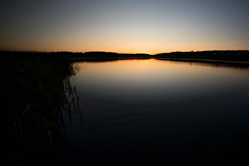12. Закат над рекой Синячиха. Музей под открытым небом