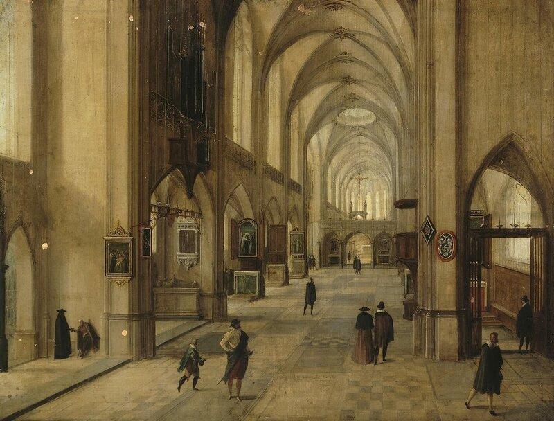 Стенвейк Хендрик, Внутренний вид готической церкви, Эрмитаж