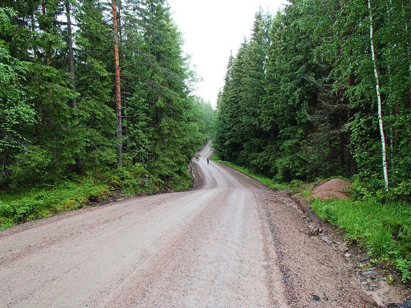 дорога 409 между Партакоски и Суоменниеми ( Partakoski и Suomenniemi))