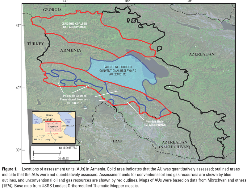 Usgs assessment: Undiscovered, Technically Recoverable Oil and Gas  Resources of Armenia, 2014