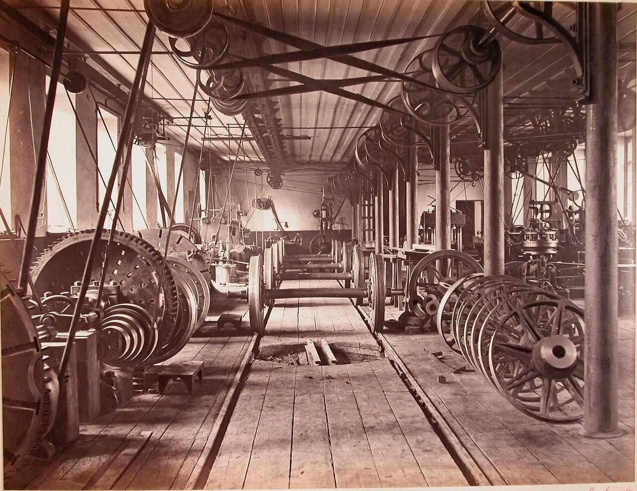 16.Общий вид колесной мастерской завода, где изготавливались вагонные колеса системы Манзеля и железные колеса