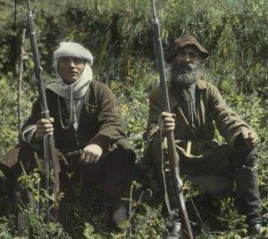 Охранники церкви Св. Квирике и Св. Ивлиты в Сванетии