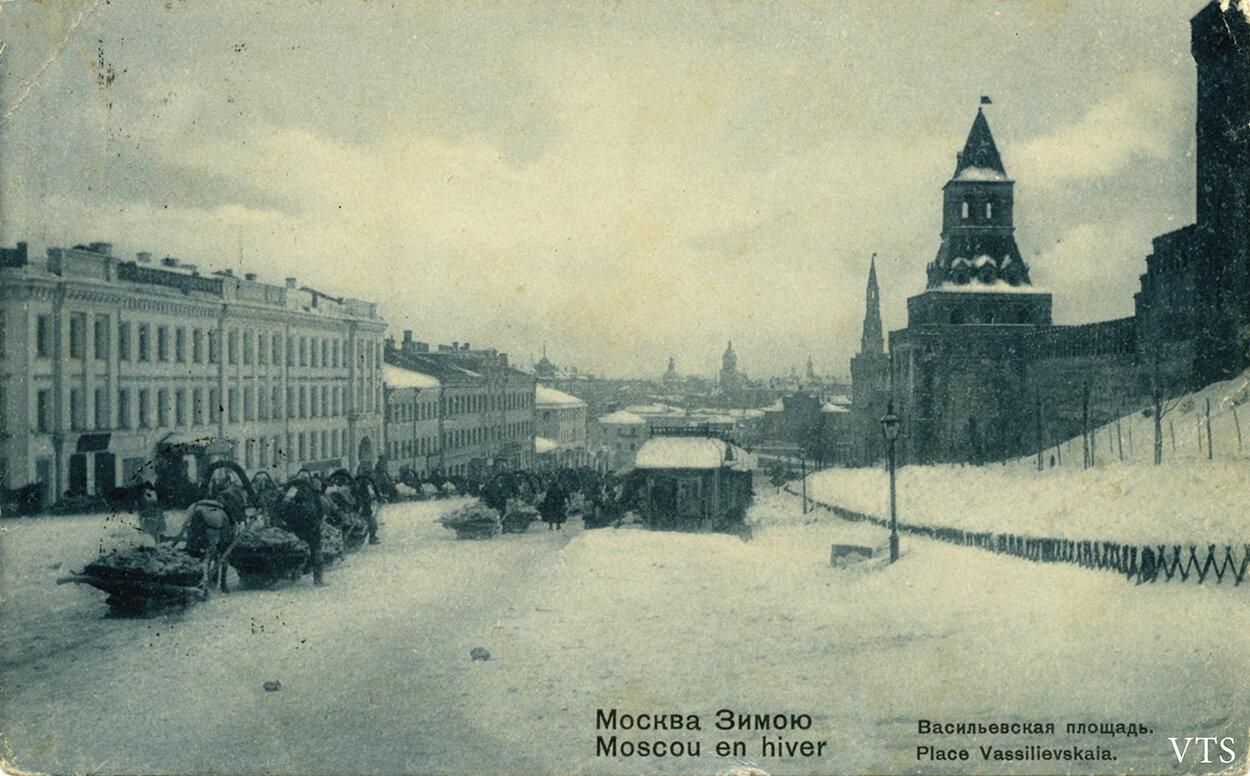 Москва Зимою. Васильевская площадь