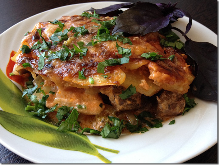 мясо с грибами и овощами рецепт