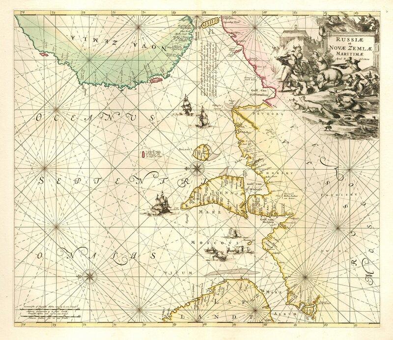 Russiae et Novae Zemlae maritimae,1715