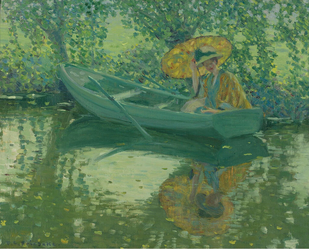 Frederick Carl Frieseke - On the River, 1908.jpeg