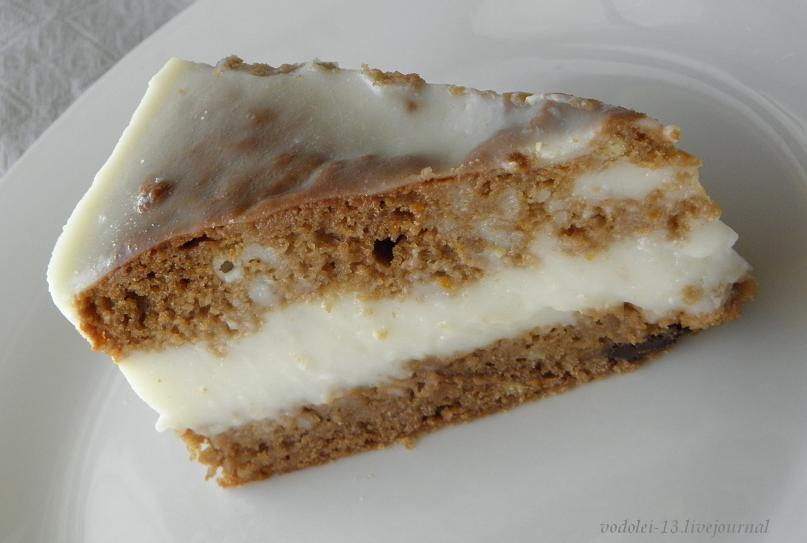 Постный торт с кокосовым суфле