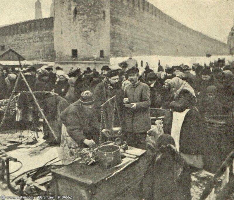 Грибной рынок на Васильевском Спуске, 1907-1908гг.