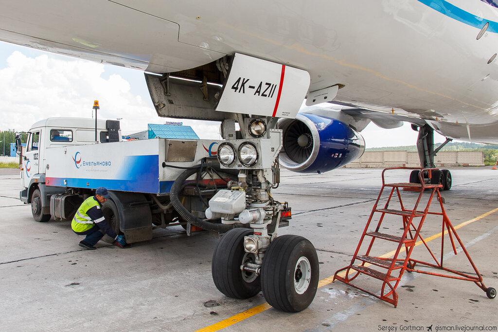 Полный отчёт о встрече первого рейса Баку-Красноярск-Баку AZAL - Азербайджанские авиалинии