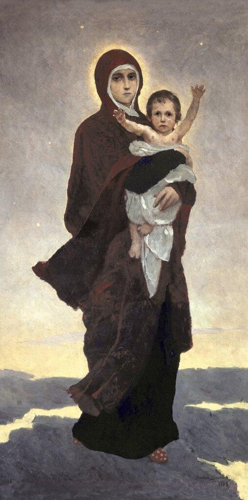 Богоматерь с младенцем. Васнецов В.М.