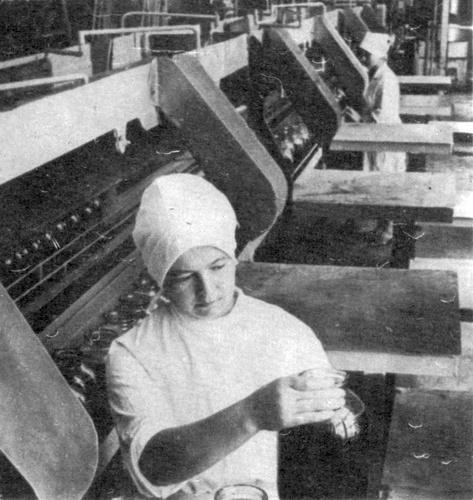 В цехе консервного завода