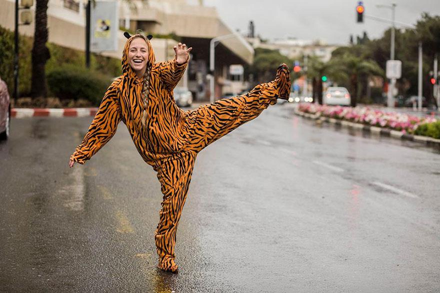 «Я наполовину кошка, наполовину человек». Тигр Ориана Rabinowitz.