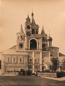 Вид колокольни в Саввино-Сторожевском монастыре,основанном в к. XIV в. Московская губерния, близ Звенигорода
