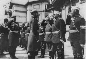 Император Николай II на смотре войск в Кременчуге.
