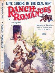 Журнал Ranch Romances (September, 1933)