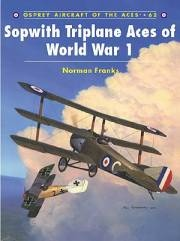 Книга Osprey - Aircraft of the Aces. #062. Sopwith Triplane Aces of World War 1