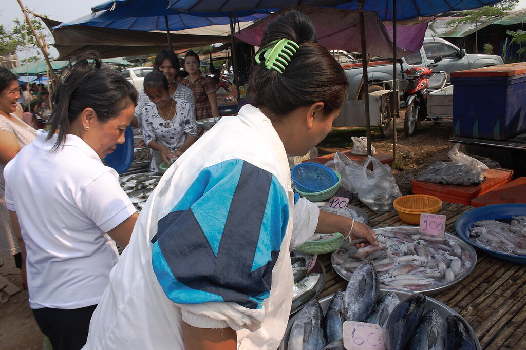 Морепродукты на рынке в Таиланде
