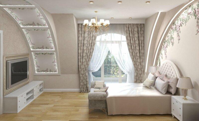 Мансарда, спальня