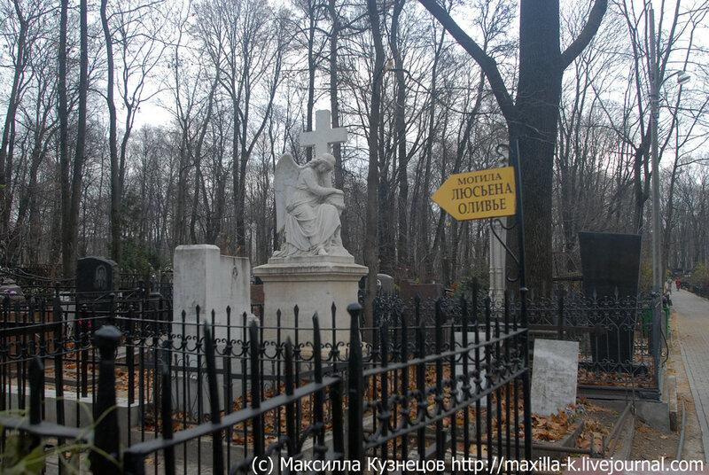 К могиле Люсьена Оливье