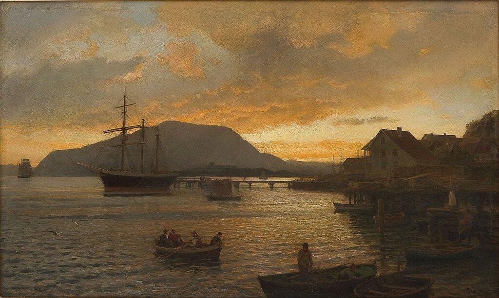 Hans Gude - Sommernatt ved Drøbak (1898)..jpg