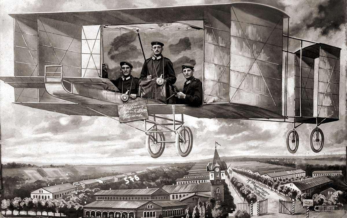 Художественные фоны для фотографий авиационной и воздухоплавательной тематики (2)