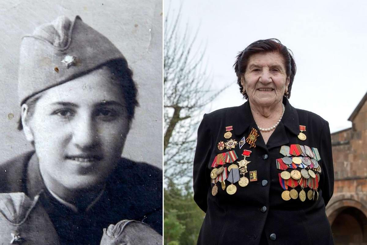 15 героев Великой Отечественной Войны из 15 республик Советского Союза - Розалия Абгарян, уроженка Армении, 91 год<