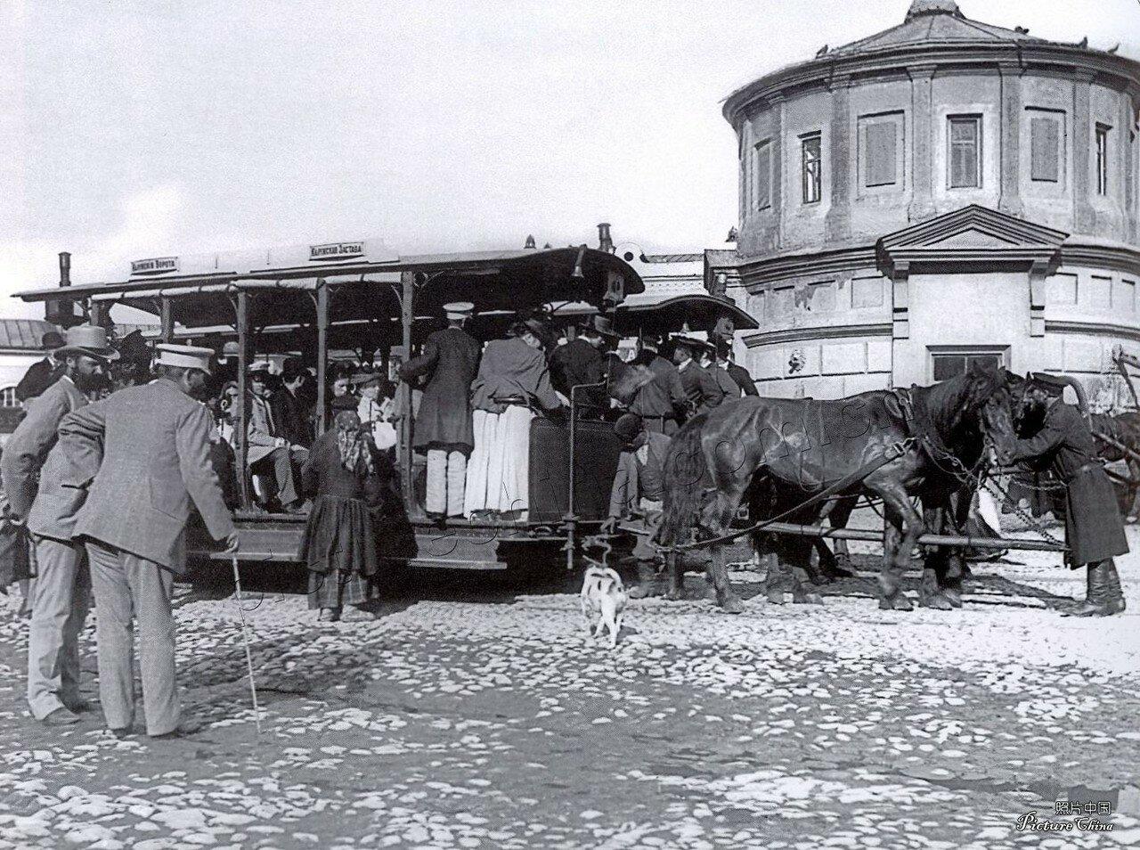 684. Конный трамвай в Москве, 1900