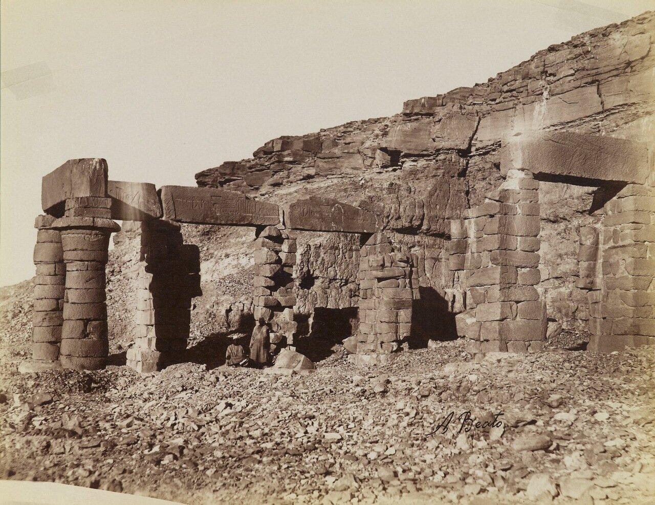 Храм Герф-Хусейн (Вид на северо-восток)