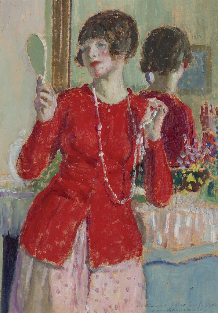 Frederick Carl Frieseke - Woman with a Mirror.jpeg