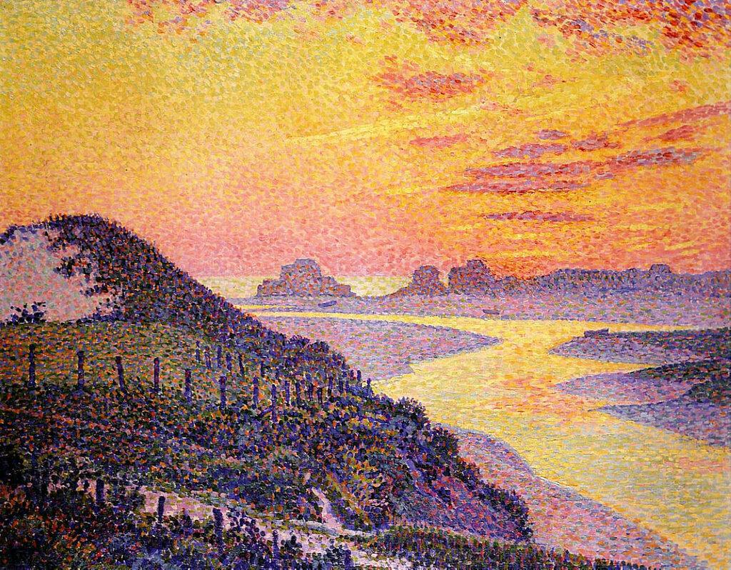 Sunset at Ambletsuse, Pas-de-Calais, 1899.jpeg