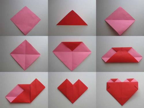 Оригами Сердце / Схема 2
