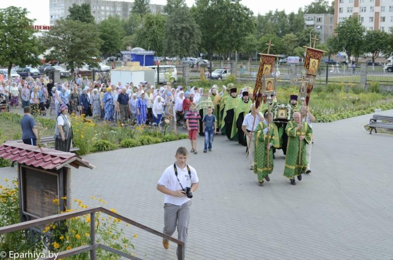 Крестный ход с частицей мощей прп.Сергия Радонежского в Светлогорске