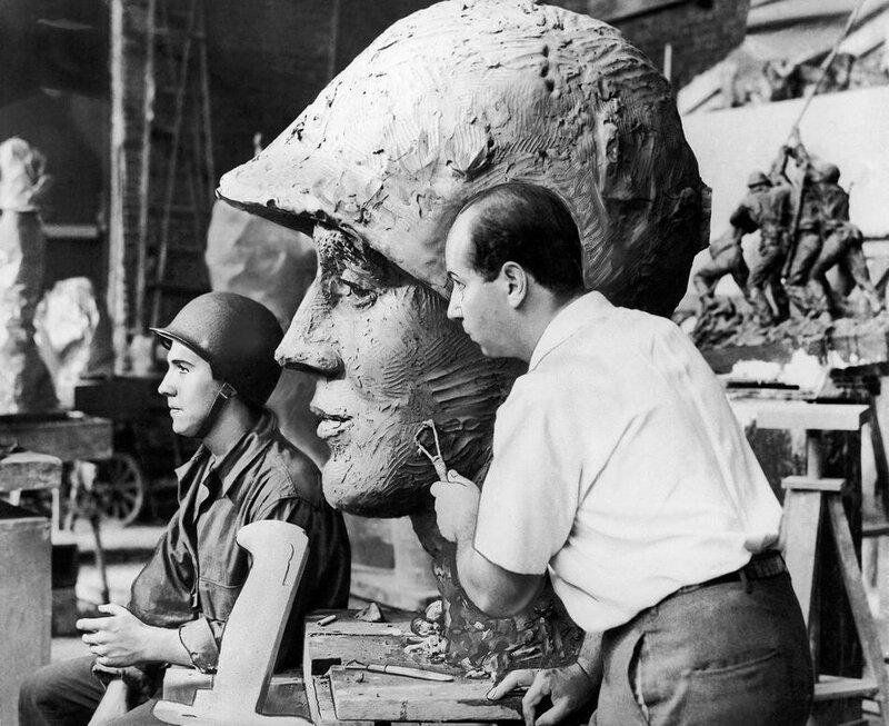 Memorial Statue Iwo Jima In Bronze