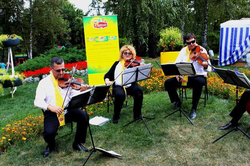 Выступление музыкантов на Певческом поле