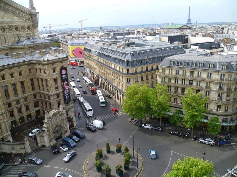 Париж, вид с крыши Галереи Лафайет (Paris, view from the roof of the Galeries Lafayette)