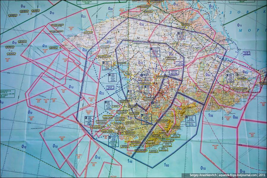 Авиационная карта Крыма