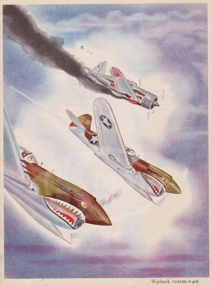 Curtiss P-40E Warhawk - истребители и штурмовики