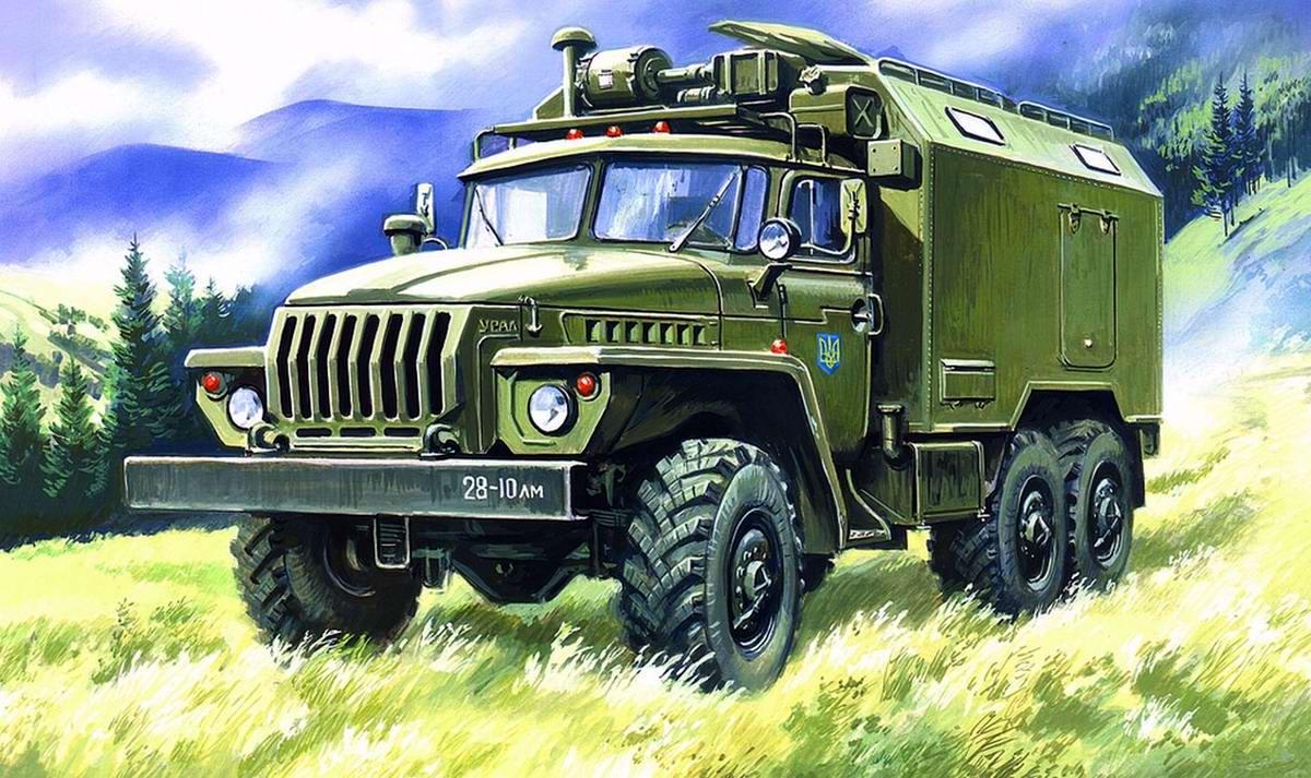 Армейский грузовой автомобиль Урал-4320 - Подвижный командный пункт