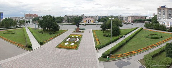 Центральная площадь Уссурийска до реконструкции