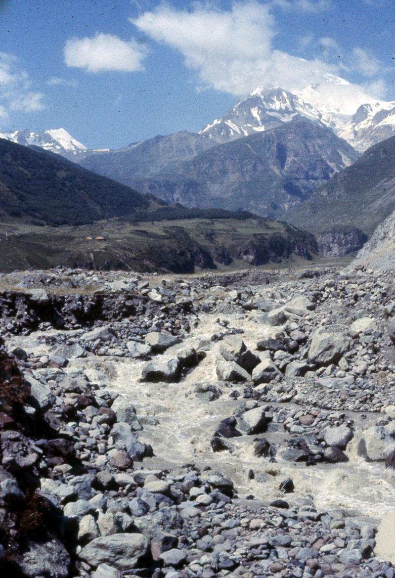 Река Терек и гора Казбек