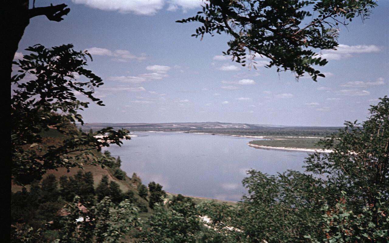 Канев. Вид с Чернечьей горы на Днепр