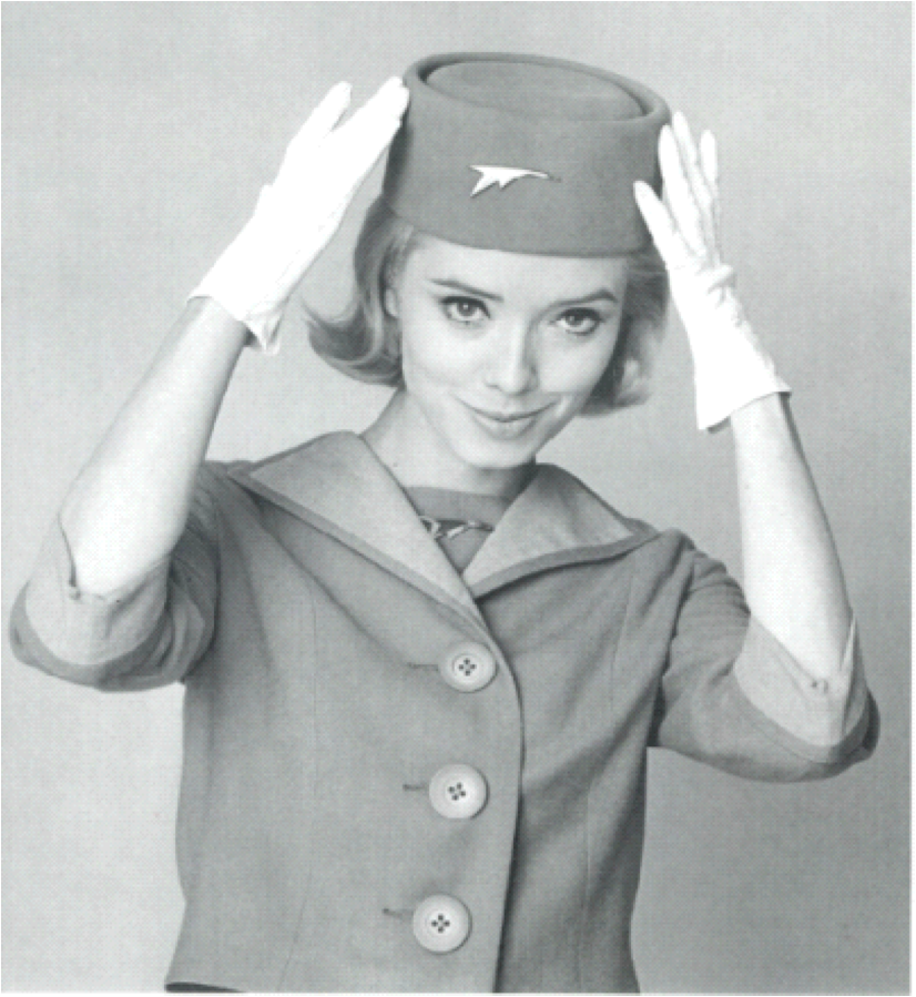 To keep with the style of the 1950s, Canadian Airlines adopted a uniform true to the times.png