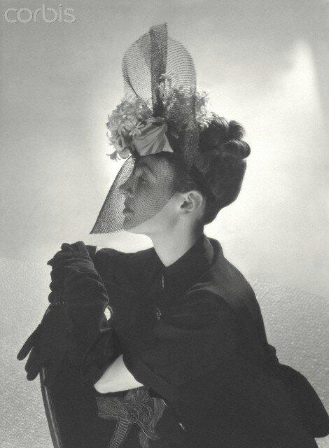 Schiaparelli Veiled Hat