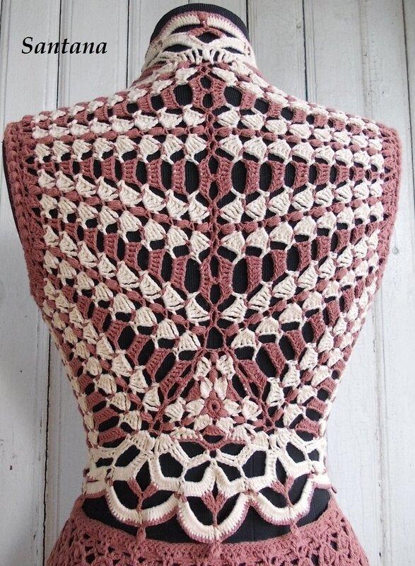 вязание спинка жилета