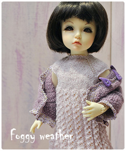 Knitted outfit for tiny (YOSD) BJD